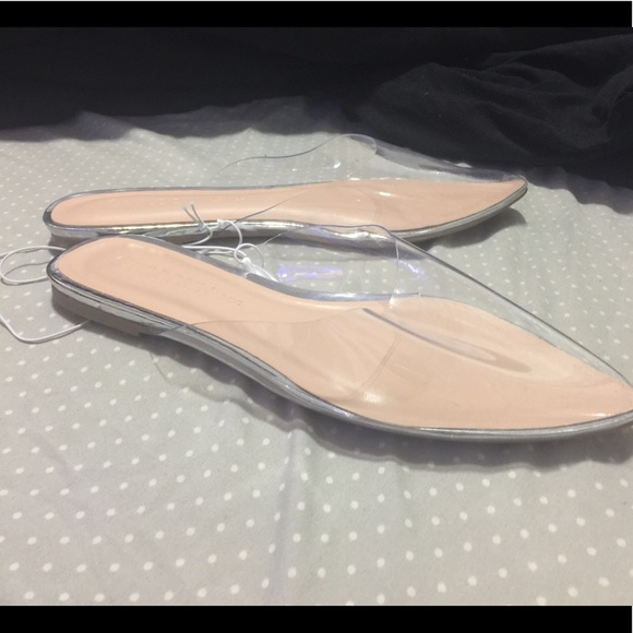 Shoes   Pointy Clear Flats   Poshmark